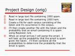 project design orig