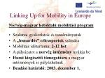 linking up for mobility in europe