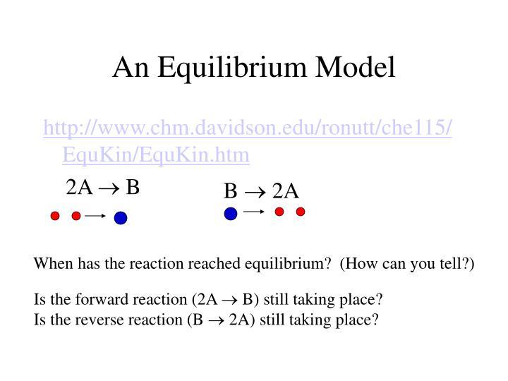 An Equilibrium Model
