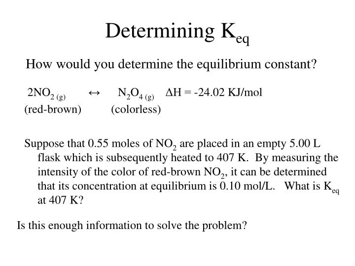 Determining K