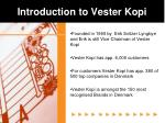 introduction to vester kopi