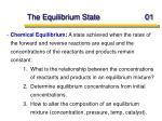 the equilibrium state 01