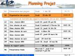planning projet