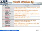 projets attribu s 2