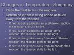 changes in temperature summary