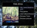 kids dinos