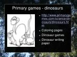 primary games dinosaurs