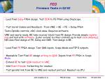fed firmware tasks in q2 03