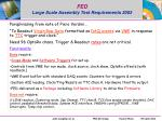 fed large scale assembly test requirements 2003