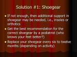 solution 1 shoegear1
