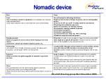nomadic device