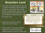 ricardian land