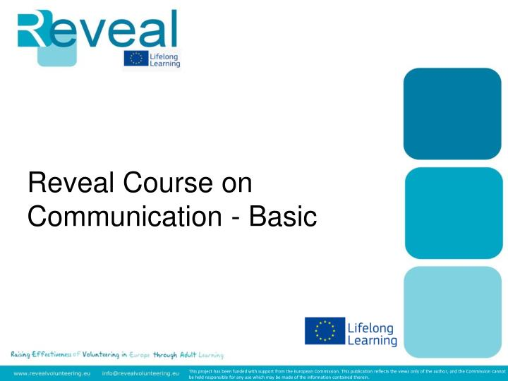 reveal course on communication basic n.