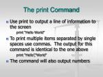 the print command