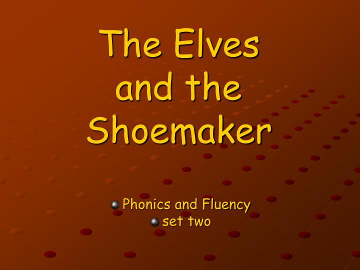 the elves and the shoemaker n.