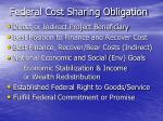 federal cost sharing obligation