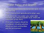 water policy and growth