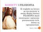 kobiety i filozofia