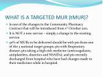 what is a targeted mur tmur