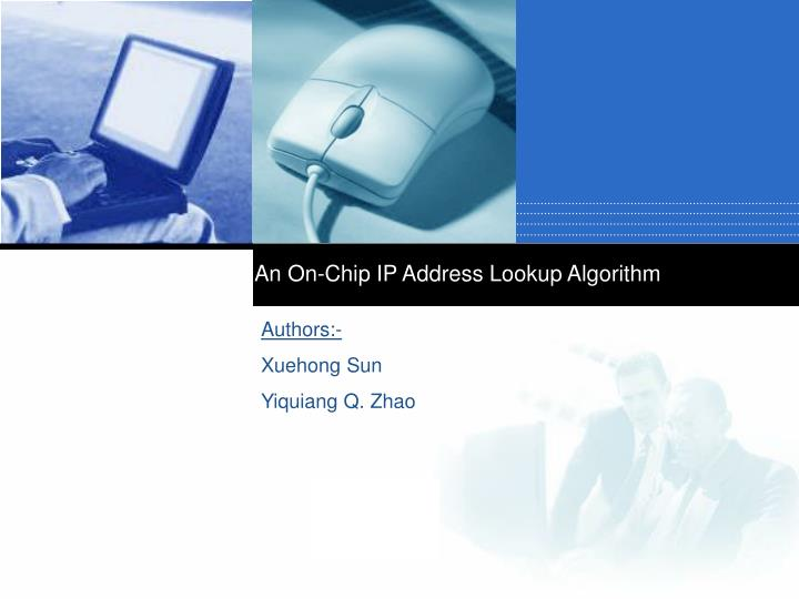an on chip ip address lookup algorithm n.