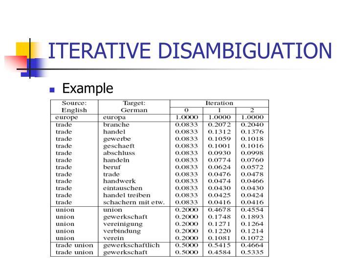Ppt Iterative Translation Disambiguation For Cross Language