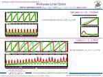 multi pass linac optics
