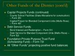 other funds of the district cont d