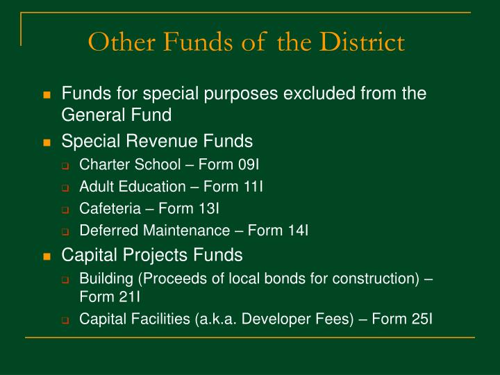 Other Funds of the District