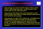 ecological research on group size1