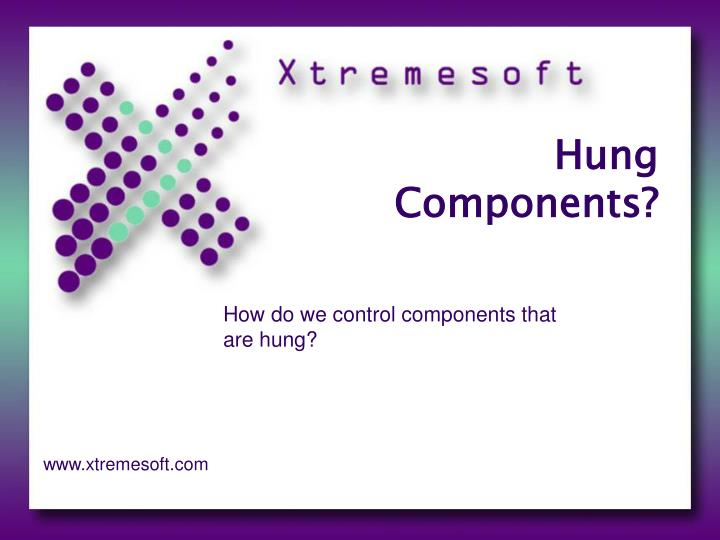 hung components n.