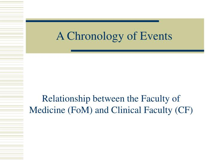 a chronology of events n.