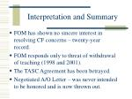 interpretation and summary