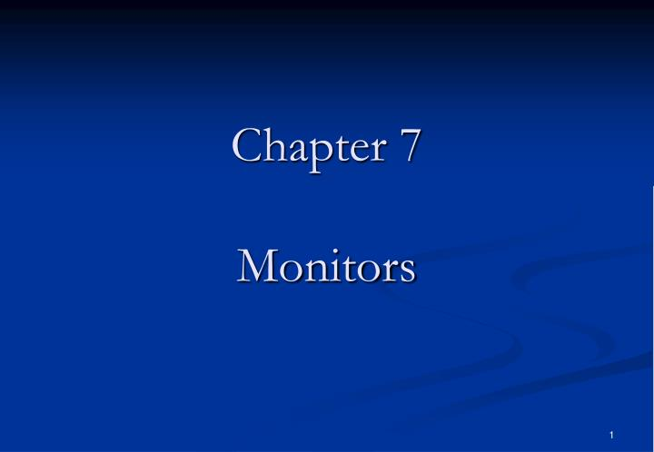 chapter 7 monitors n.