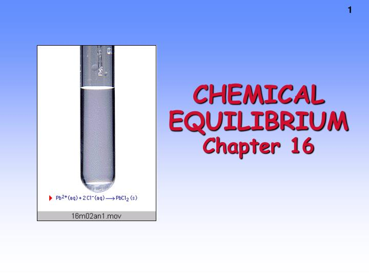 chemical equilibrium chapter 16 n.