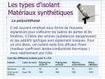 les types d isolant mat riaux synth tiques1