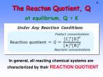 the reacton quotient q