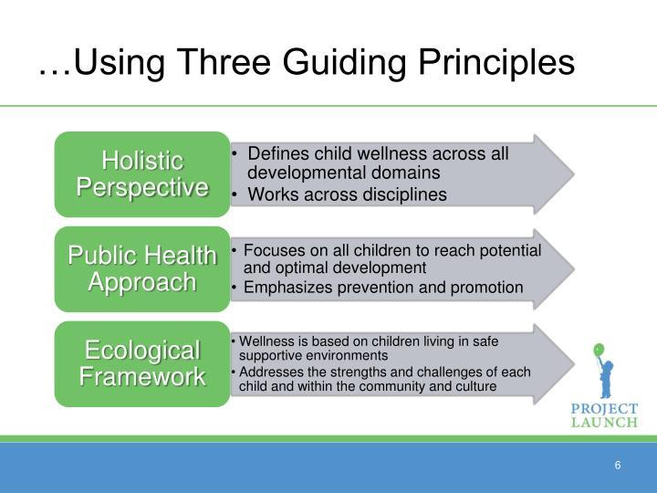 …Using Three Guiding Principles