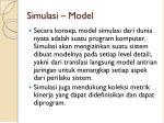 simulasi model