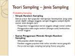 teori sampling jenis sampling1