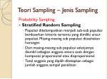 teori sampling jenis sampling2