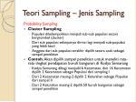 teori sampling jenis sampling4