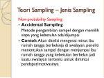 teori sampling jenis sampling6