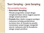 teori sampling jenis sampling7