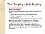 teori sampling jenis sampling8