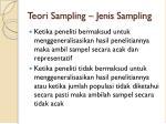 teori sampling jenis sampling9