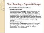 teori sampling populasi sampel1
