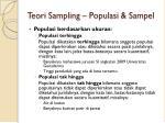 teori sampling populasi sampel2
