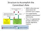 structure to accomplish the committee s role