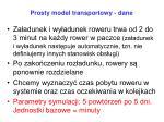 prosty model transportowy dane1