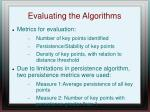 evaluating the algorithms1